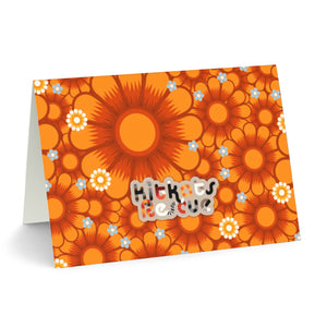 KitKats Rescue . Orange Flower Bed . Stationary Card