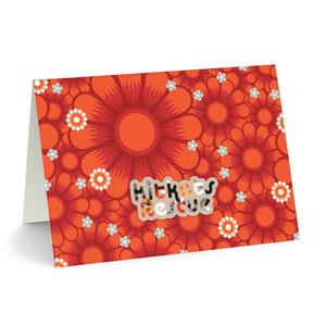 KitKats Rescue . Red Flower Bed . Stationary Card