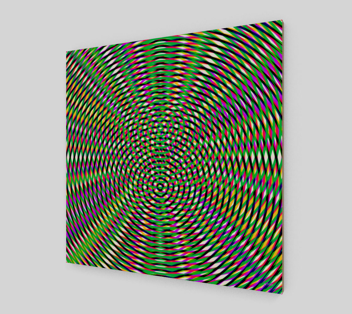 Vibrant Colorful Modern Geometric Fine Art Wood Print