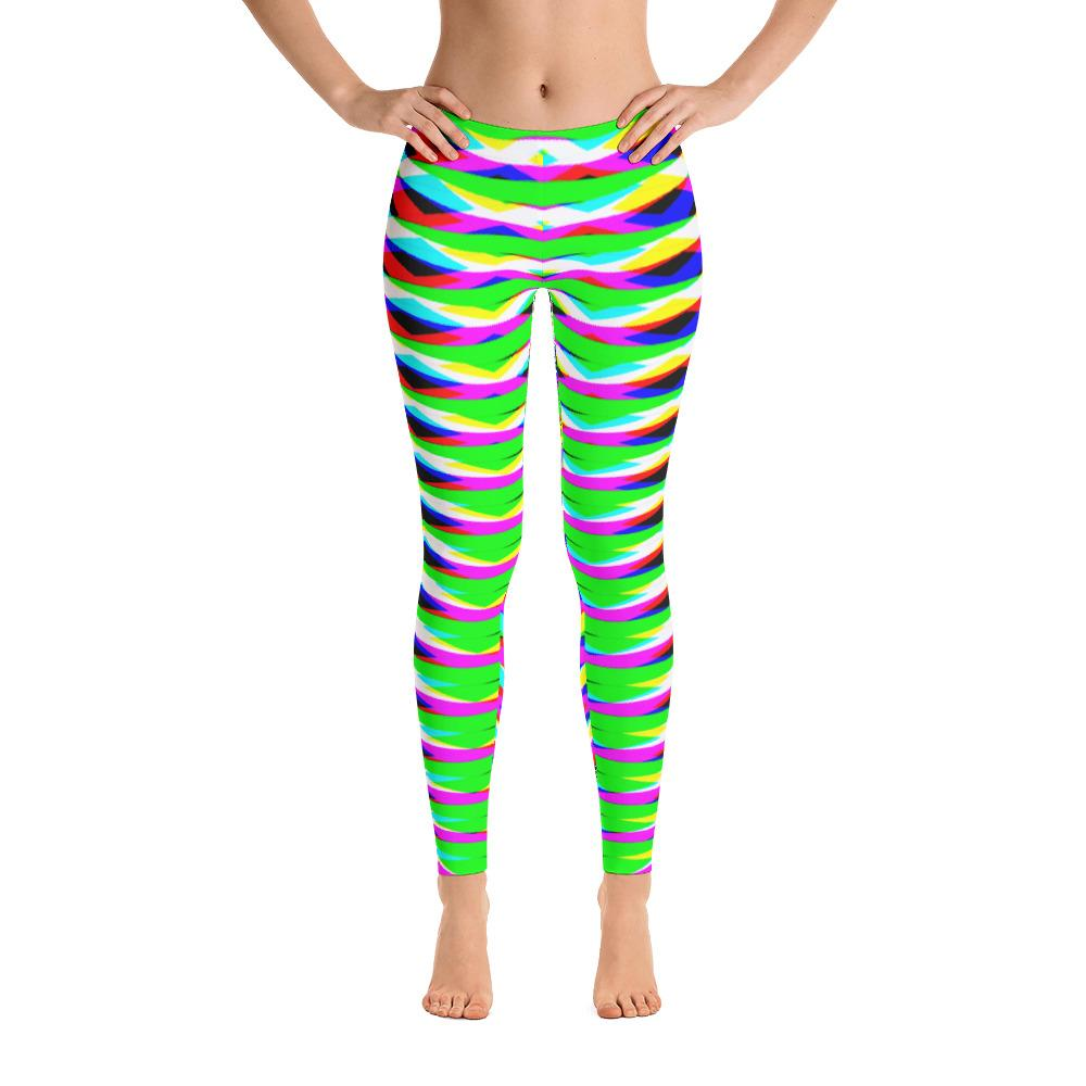 Vibrant Green Geometric Women's Super Soft Leggings