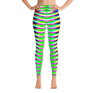 Vibrant Green Geometric Women's Super Soft Yoga Leggings