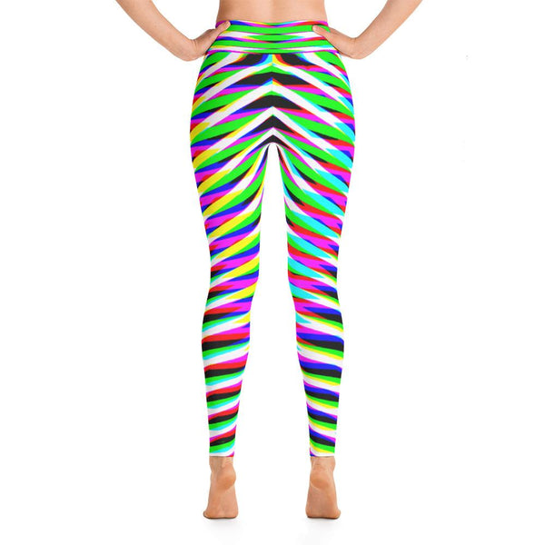 Vibrant Geometric Women's Yoga Leggings