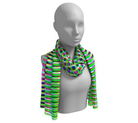 Modern Geometric Green Long Scarf