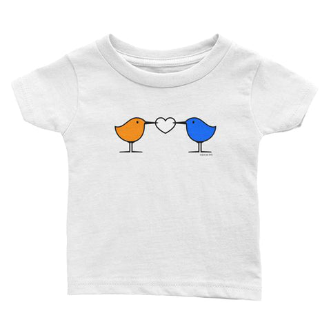 Love Birds . Sanderling Shorebirds . Graphic Tee . Infant's Jersey T-Shirt . PIPPETE . Love Birds