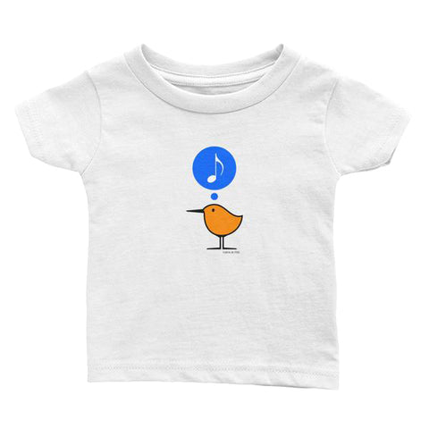 Song Bird . Sanderling Shorebird . Graphic Tee For Infants and Toddlers . Infant's Jersey T-Shirt . PIPPETE . Song