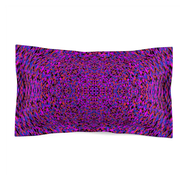 Purple Geometric Super Soft Pillow Sham