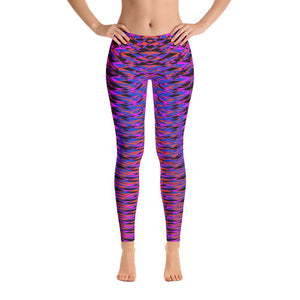 Modern Geometric Purple Women's Soft Leggings