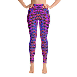 VIbrant Purple Sacred Geometry Super Soft Women's Yoga Leggings Pants