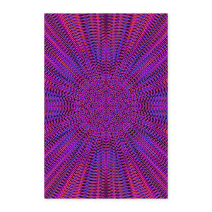 Vibrant Purple Geometric Fine Art Print