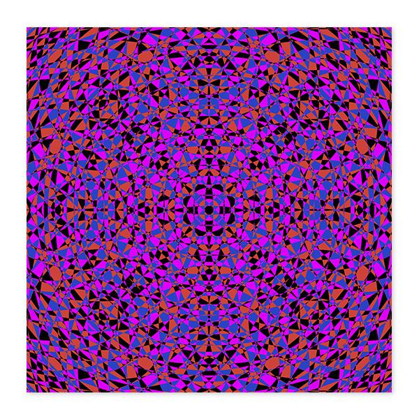Vibrant Purple Geometry Fine Art Wood Print