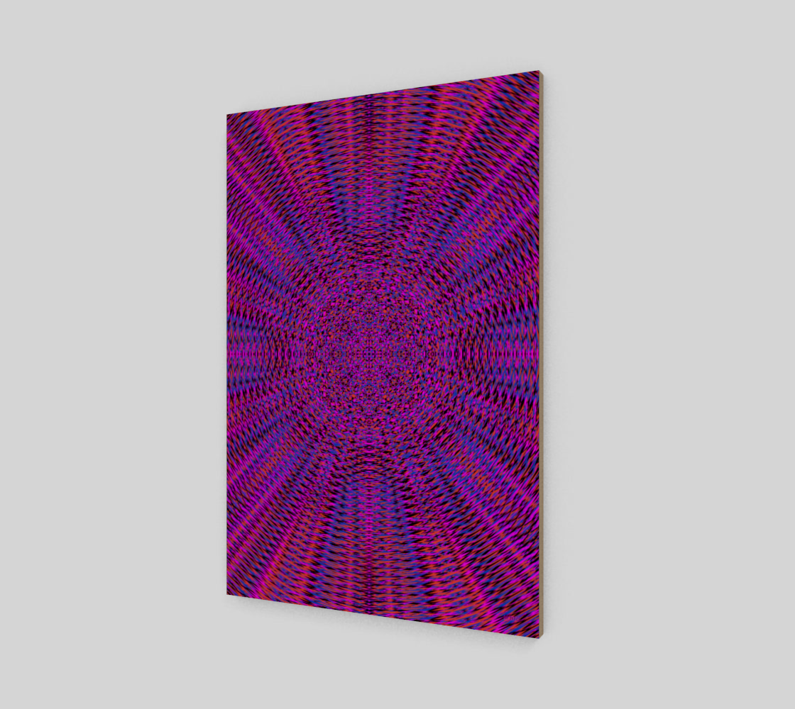 Vibrant Purple Geometric Wood Print