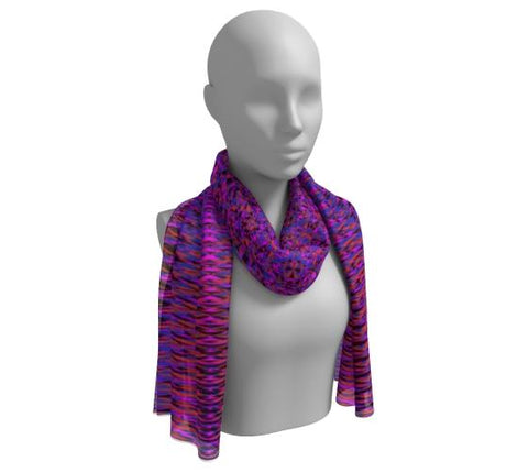 Purple Geometric Long Scarf