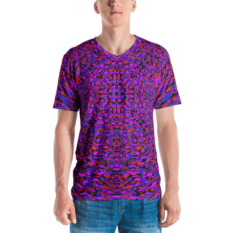 Purple Sacred Geometry Men's V-Neck T-Shirt