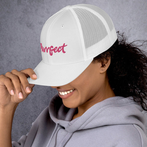 Purrfect . Pink . Trucker Cap