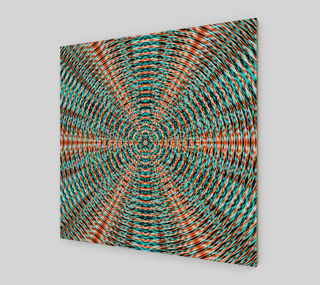 Vibrant Colorful Sacred Geometry Fine Art Wood Print
