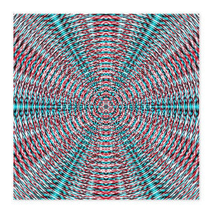 Vibrant Sacred Geometry Fine Art Wood Print