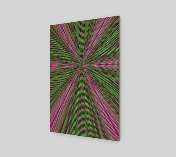 Resonant Geometric Fine Art Wood Print