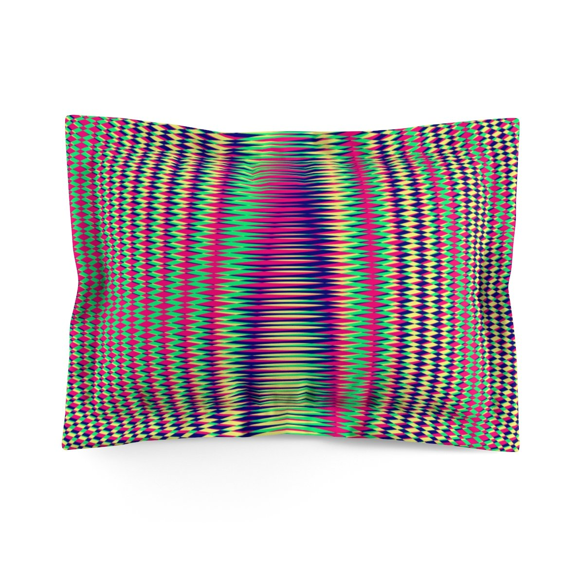 Vibrant Geometric Super Soft Pillow Sham