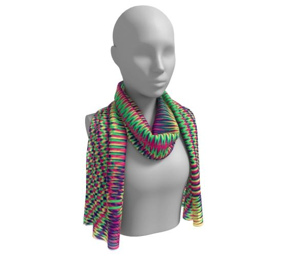 Modern Colorful Sacred Geometry Long Scarf