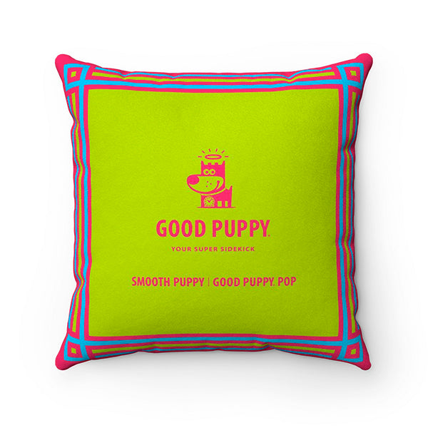 Smooth Puppy - Good Puppy Faux Suede Square Pillow Accent For Children's Bedroom