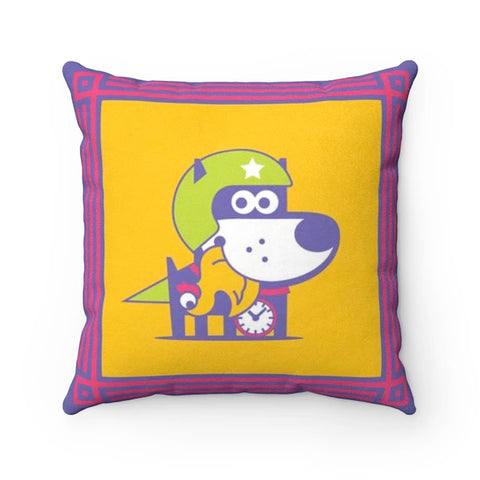 Super Puppy Faux Suede Square Pillow
