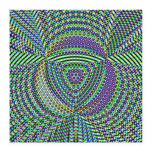 Trinity Colorful Geometric Fine Art Wood Print