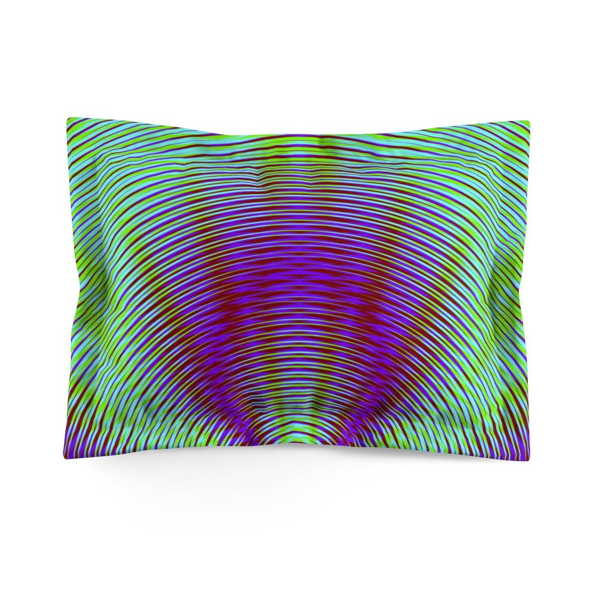 Vibrant Purple Geometric Super Soft Pillow Sham