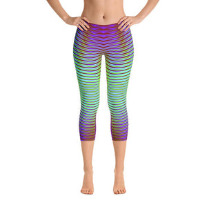 Unique Geometric Super Soft Women's Capri Leggings