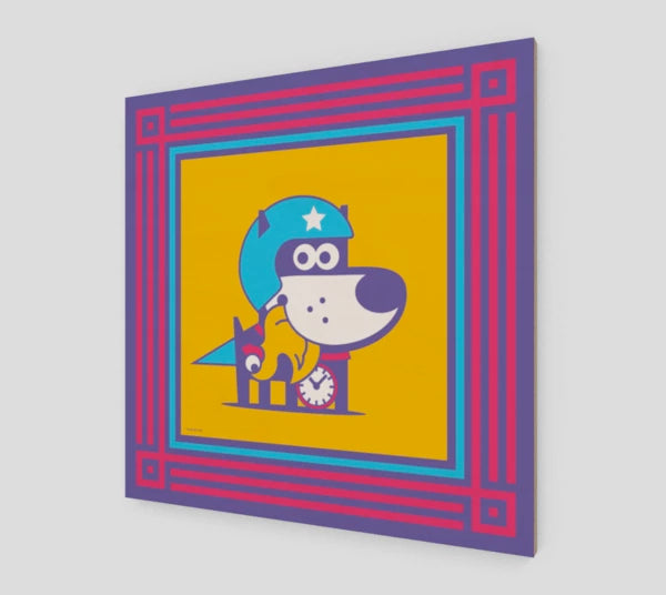 Super Puppy . Wood Print