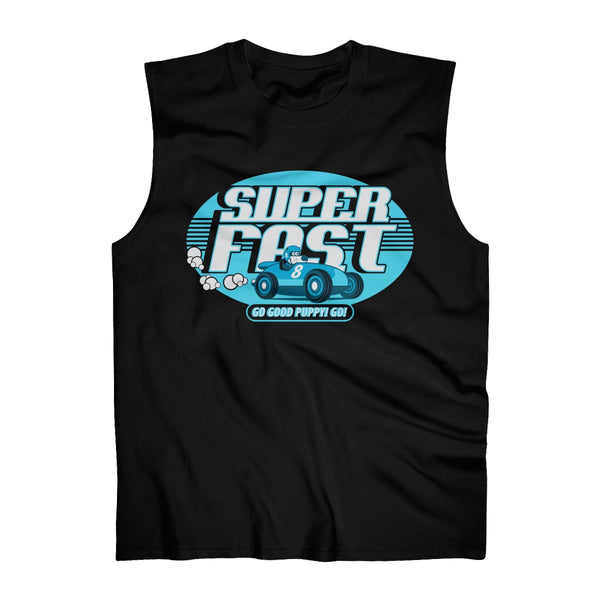 Super Fast . Blue Print . Men's Ultra Cotton Sleeveless Tank