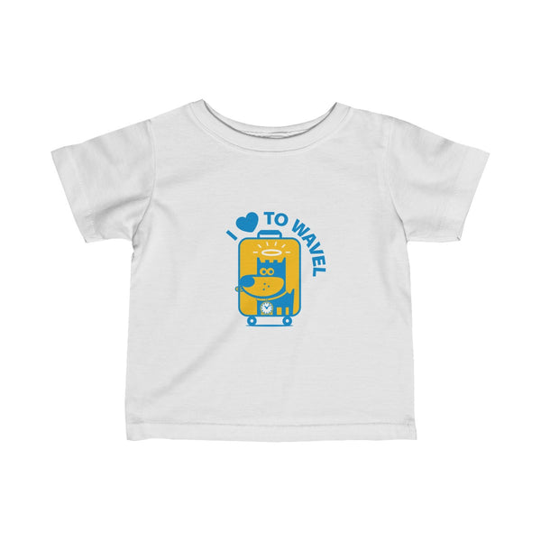 I Love To WaveI I . Infant Fine Jersey Tee