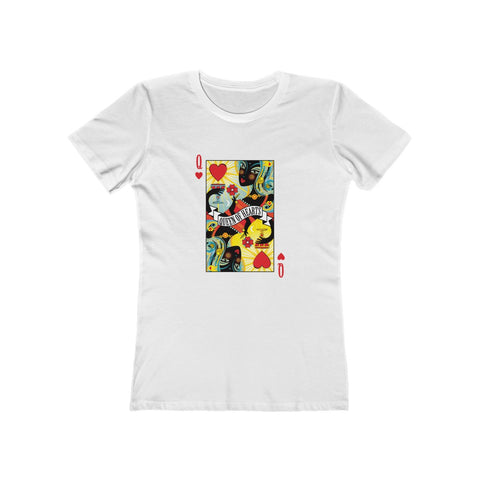 Queen Of Hearts . Women's Boyfriend Tee