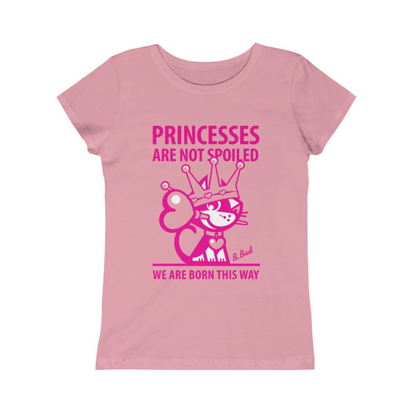 Princesses . Magenta Print . Girls Princess Tee
