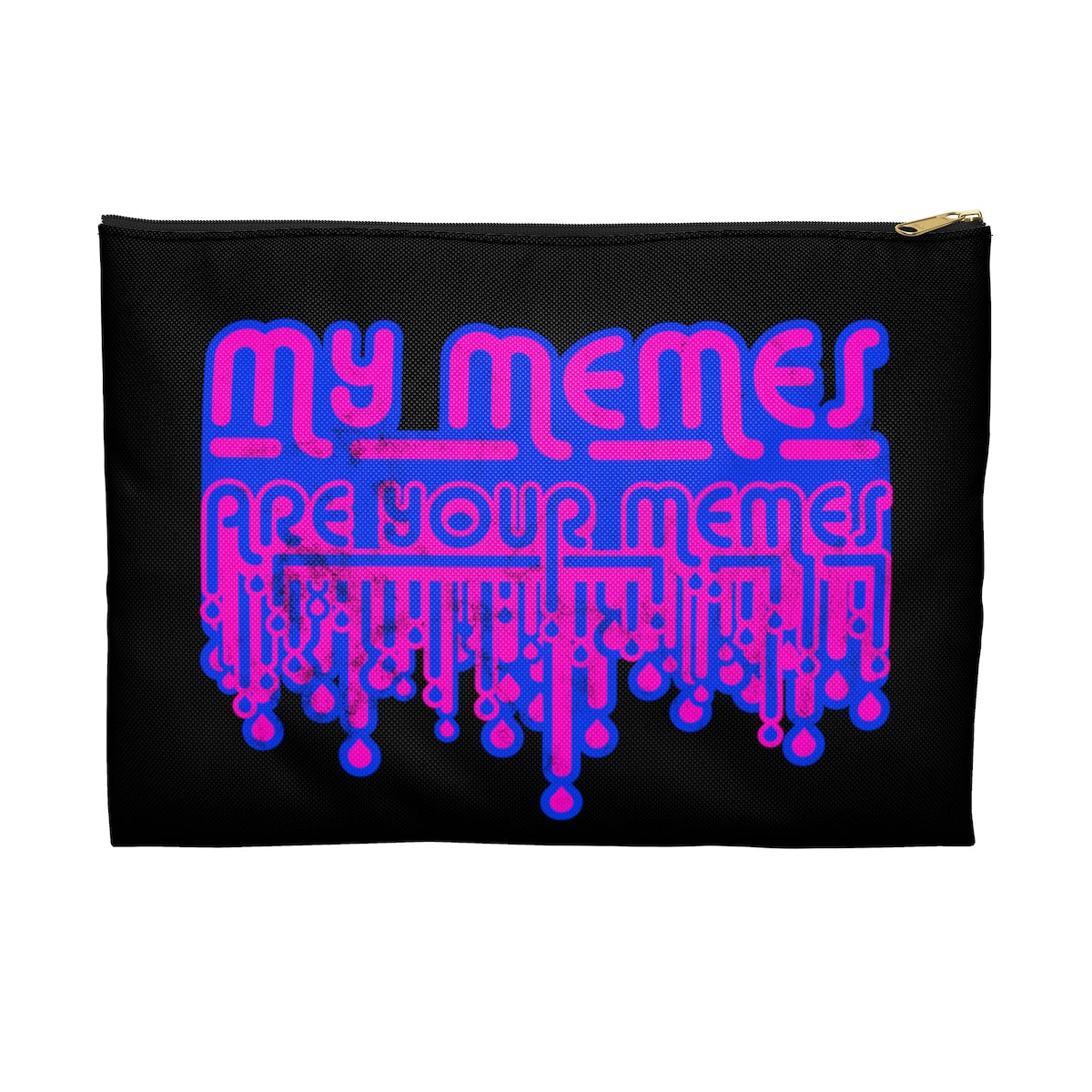 SACRED CLOWNS . My Memes . Pink Print . Accessory Pouch