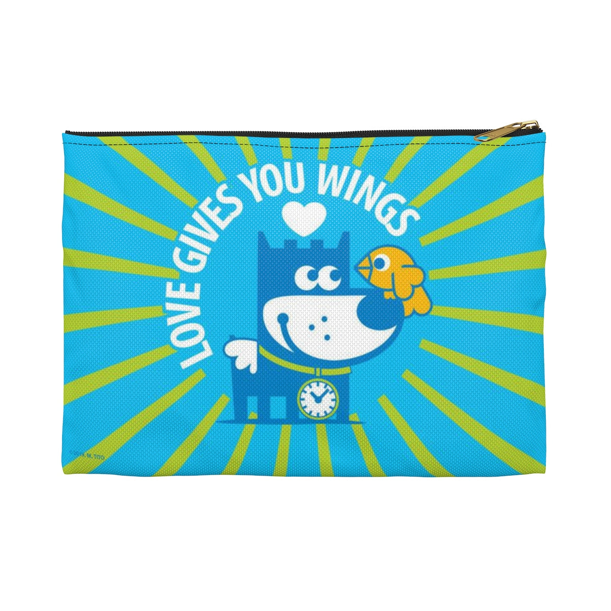 Love Gives You Wings . Accessory Pouch