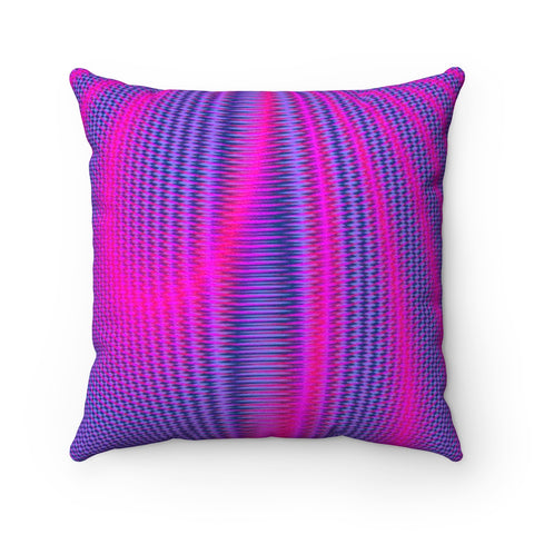 Inner Light V . Faux Suede Square Pillow