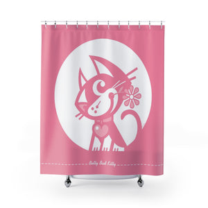 Betty Bad Kitty MoonFlower IV . Shower Curtain