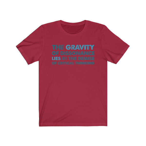 The Gravity . Blue-Turquoise . Unisex Jersey Short Sleeve Tee