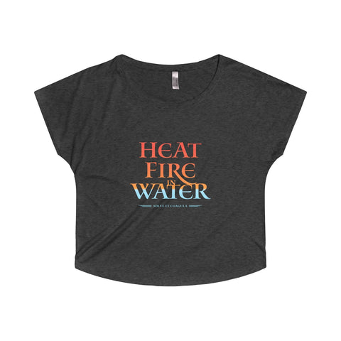GEORGE'S DRAGON . Heat Fire In Water . Women's Dolman
