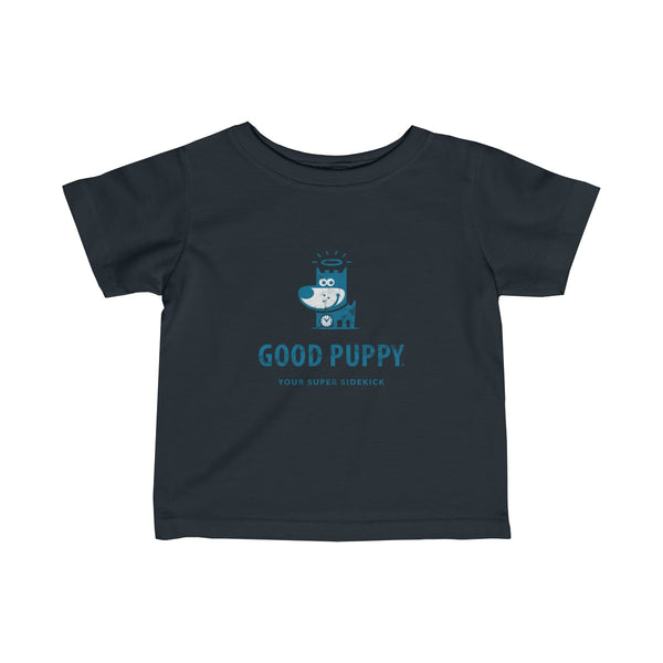 GOOD PUPPY . Logo . Blue Print . Infant Fine Jersey Tee