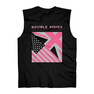 Double Vision . Pink on Dark . Men's Ultra Cotton Sleeveless Tank