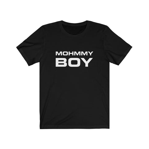Mohmmy Boy . White Print . Unisex Cotton Tee