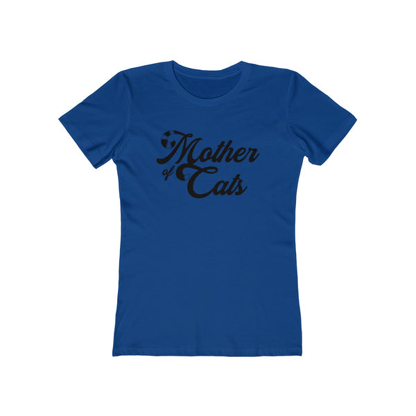 Mother Of Cats . Black . Women's The Boyfriend Tee
