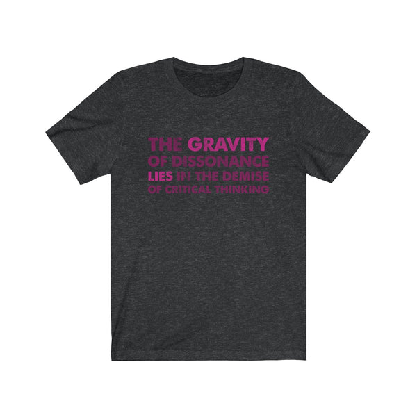 SACRED CLOWNS . The Gravity . Maroon-Magenta . Unisex Jersey Short Sleeve Tee