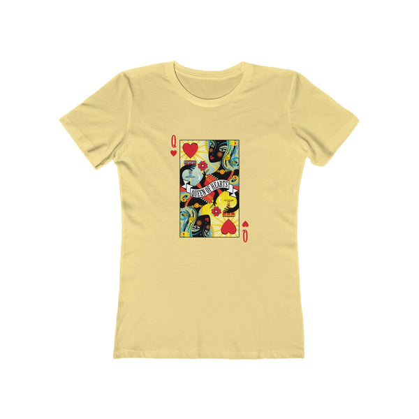 GEORGE'S DRAGON . Stack The Deck . Queen Of Hearts . Women's The Boyfriend Tee