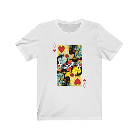 Queen Of Hearts . Unisex Cotton Tee