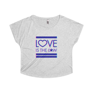 Love Is The Law . Women's Dolman . Heather White