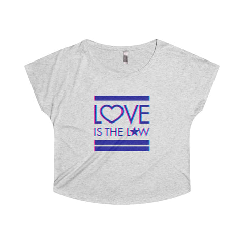 GEORGE'S DRAGON . Love Is The Law . Women's Dolman . Heather White