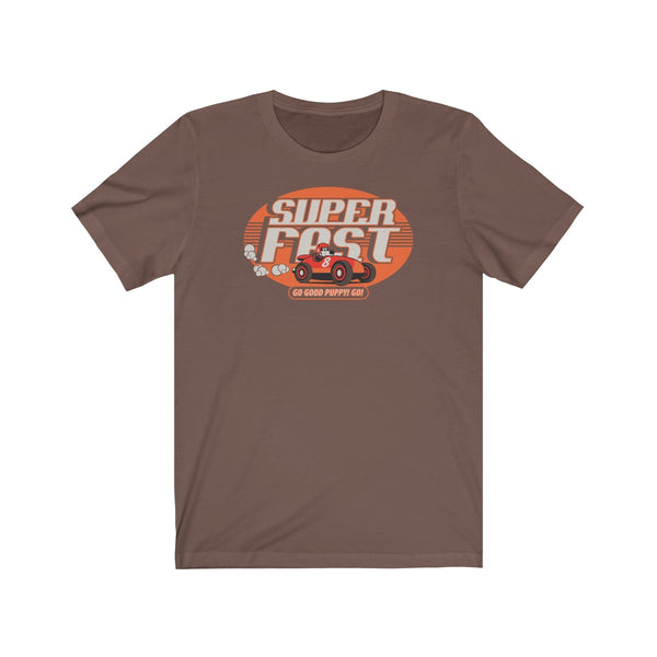 Super Fast . Orange Print . Unisex Jersey Short Sleeve Tee