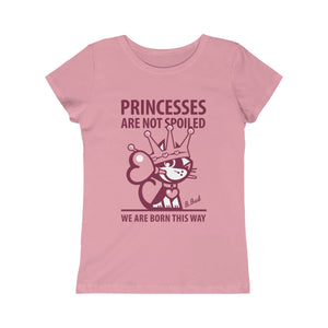 Princesses . Raspberry Print . Girls Princess Tee
